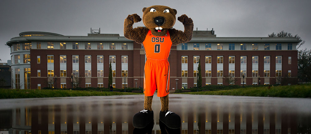 photo of Benny Beaver in quad