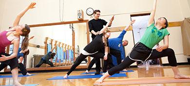 photo of yoga class
