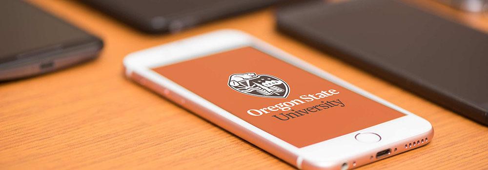 photo of phone showing OSU logo